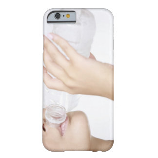 young woman drinking water,close-up barely there iPhone 6 case