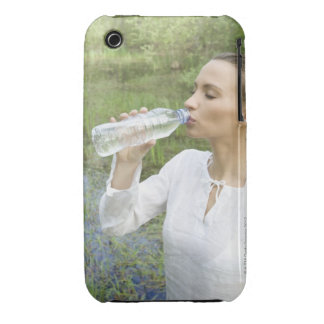 young woman drinking water from bottle iPhone 3 cover