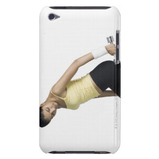 Young woman exercising with a dumbbell iPod touch Case-Mate case
