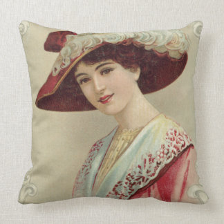 Young Woman From East Indian Tea Throw Pillow
