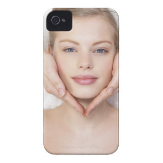 Young woman getting massage iPhone 4 cover