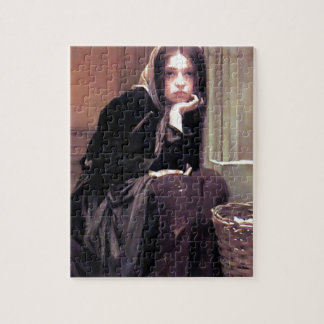 Young Woman Girl in Black Painting Puzzles