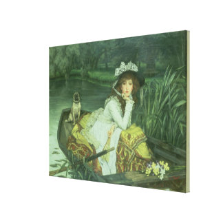 Young Woman in a Boat, or Reflections, c.1870 (oil Canvas Print