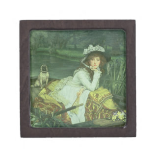 Young Woman in a Boat, or Reflections, c.1870 (oil Jewelry Box