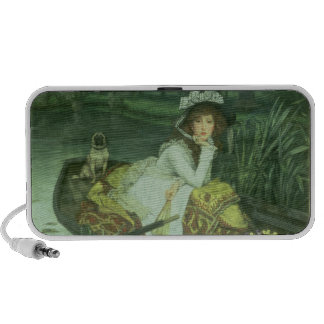 Young Woman in a Boat, or Reflections, c.1870 (oil Mp3 Speaker
