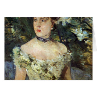 Young woman in a costume ball by Berthe Morisot Card