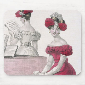 Young Woman in a Crepe Evening Dress with an Elabo Mouse Pad
