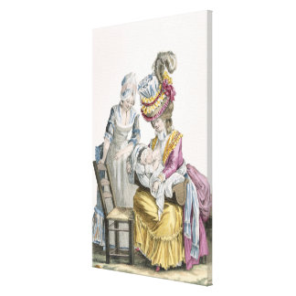Young Woman in a Dress 'a la Levite' Breastfeeding Gallery Wrapped Canvas