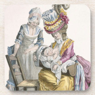 Young Woman in a Dress 'a la Levite' Breastfeeding Coasters