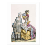 Young Woman in a Dress 'a la Levite' Breastfeeding Postcards
