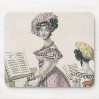 Young Woman in a Pink Organdie Dress Trimmed with Mouse Pad