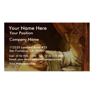 Young Woman In Bed (Possibly Geertje) By Rembrandt Business Card Template
