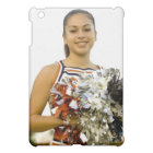 Young woman in cheerleading uniform case for the iPad mini