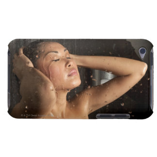 Young woman in shower iPod touch Case-Mate case