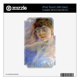Young woman in white by Berthe Morisot iPod Touch 4G Decals