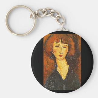 Young Woman of Montmartre'_Portraits Keychain