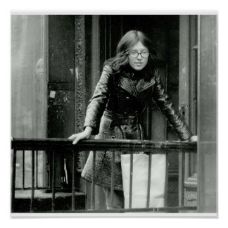Young Woman on East 3rd Street, 1972 Poster