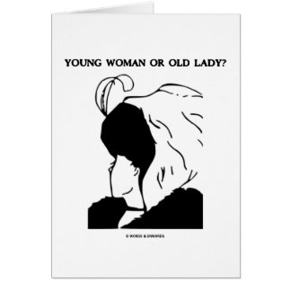 Young Woman Or Old Lady? (Optical Illusion) Cards