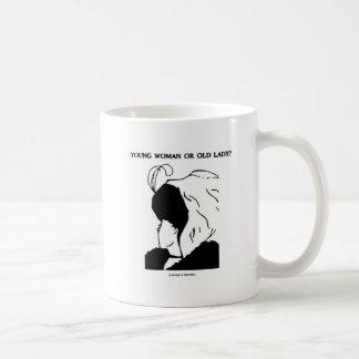 Young Woman Or Old Lady? (Optical Illusion) Coffee Mug