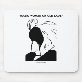 Young Woman Or Old Lady? (Optical Illusion) Mouse Pads