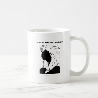 Young Woman Or Old Lady? (Optical Illusion) Mug