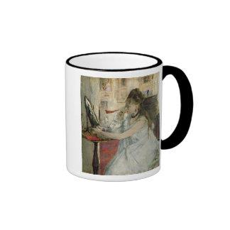 Young Woman Powdering her Face, 1877 Mug