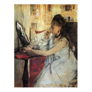 Young woman powdering her face by Berthe Morisot Postcard