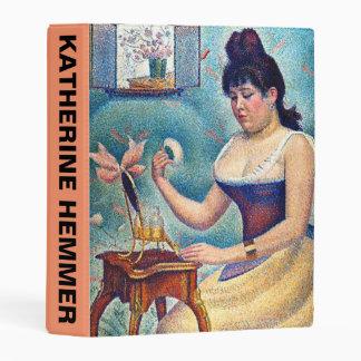 Young Woman Powdering Herself Mini Binder