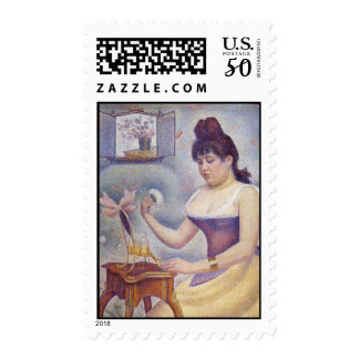 Young Woman Powdering Postage
