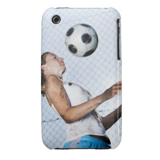 young woman practising with football iPhone 3 Case-Mate cases