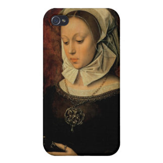 Young Woman Reading a Book of Hours (oil on panel) iPhone 4 Cover