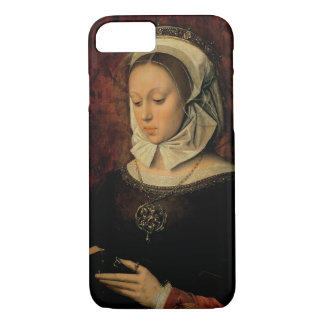 Young Woman Reading a Book of Hours (oil on panel) iPhone 8/7 Case