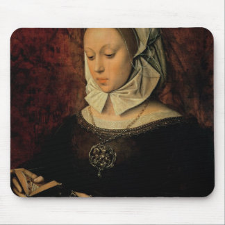 Young Woman Reading a Book of Hours (oil on panel) Mouse Pad