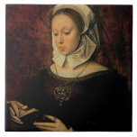 Young Woman Reading a Book of Hours (oil on panel) Ceramic Tiles