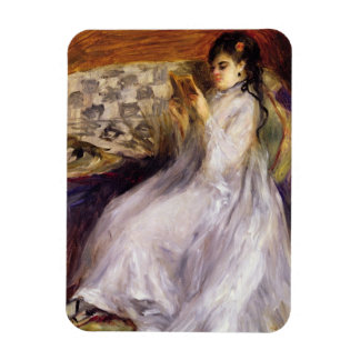 Young Woman Reading, c.1873 (oil on canvas) Rectangular Photo Magnet