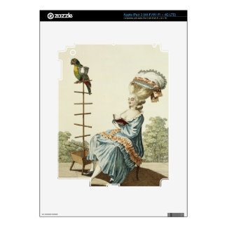 Young woman reading in a day dress with an elabora iPad 3 decals