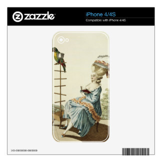 Young woman reading in a day dress with an elabora skins for the iPhone 4S