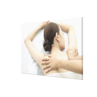 young woman receiving massage,woman in health 2 canvas print