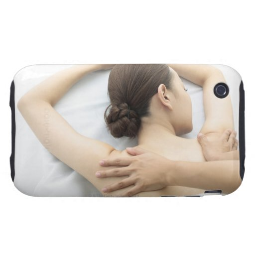 young woman receiving massage,woman in health 2 iPhone 3 tough covers