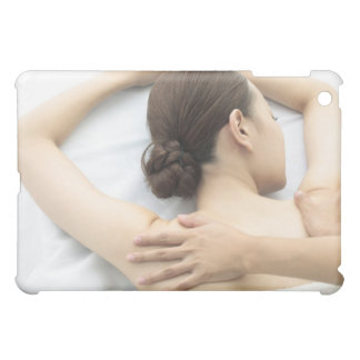 young woman receiving massage,woman in health 2 iPad mini case