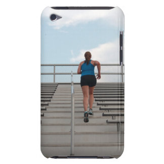 young woman running up steps barely there iPod covers