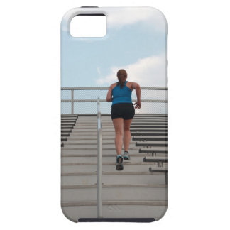 young woman running up steps iPhone SE/5/5s case