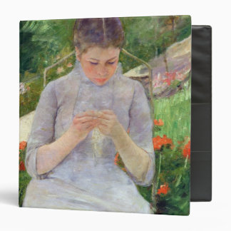 Young Woman Sewing in the garden, c.1880-82 Binder