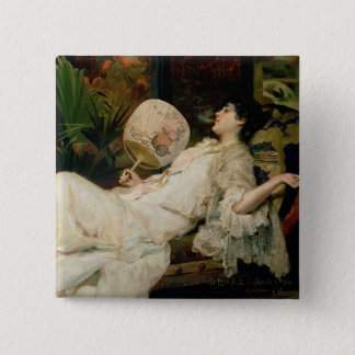 Young Woman Smoking, 1894 Pinback Button