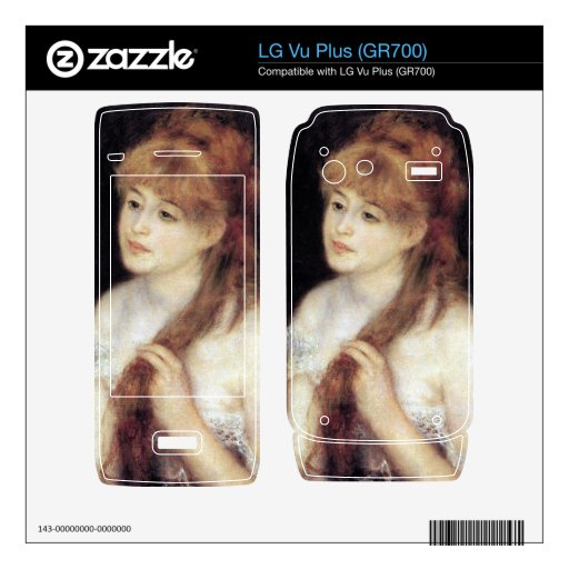 Young woman strokes her hair by Pierre Renoir Skins For The LG Vu Plus