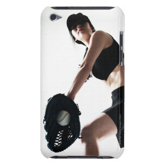 young woman training,baseball iPod Case-Mate case
