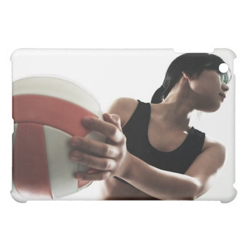 young woman training,volleyball case for the iPad mini