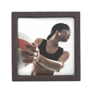 young woman training,volleyball jewelry box