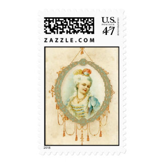 Young Woman Vintage Style Postage Stamp