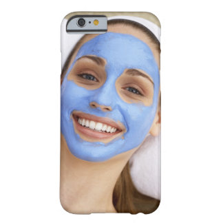 Young woman wearing facial mask, smiling, barely there iPhone 6 case